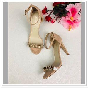 Aldo strappy embellished ankle strap stiletto heel